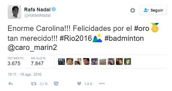 Rafa Nada tuit