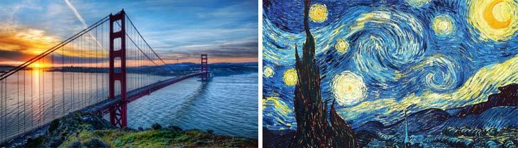 Puente y pintura