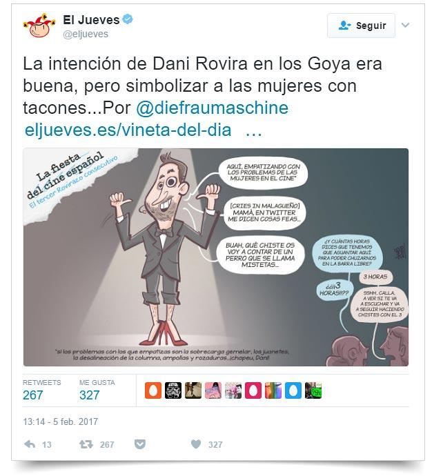 Tuit El Jueves sobre los Goya